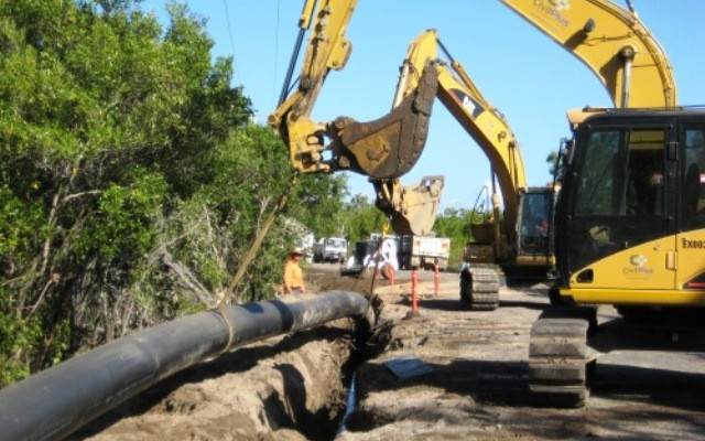 Bolger Bay Pipeline Installation
